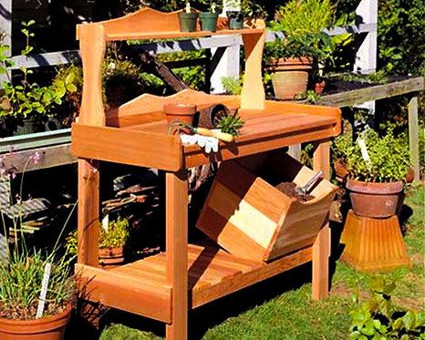 Red Cedar Potting Bench