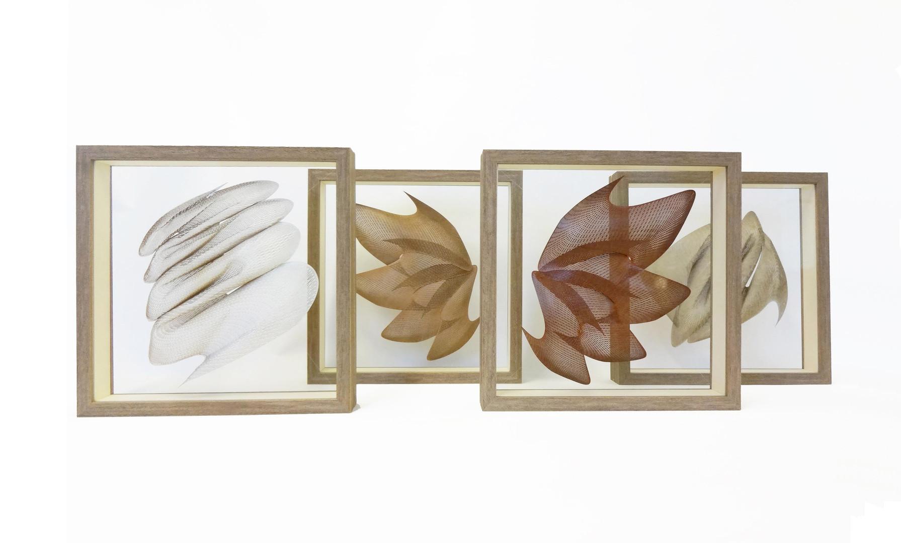 Double-sided glass frame  w)35cm x h)35cm x d)5.5cm /each