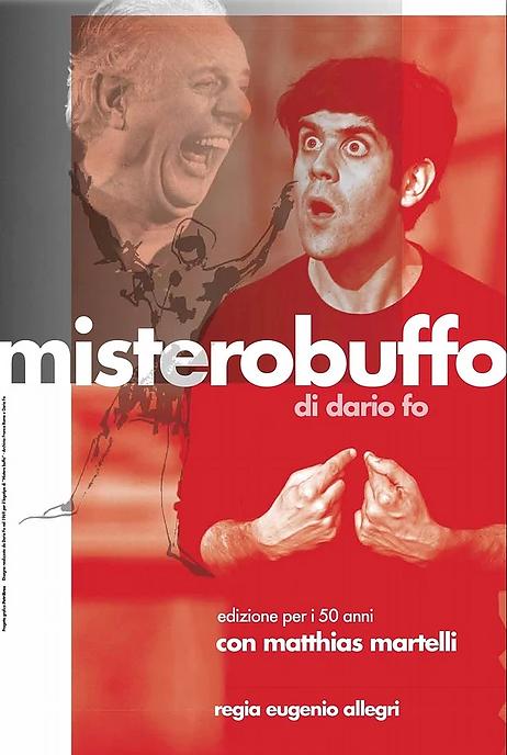 Locandina Mistero Buffo - Grafica Petrib