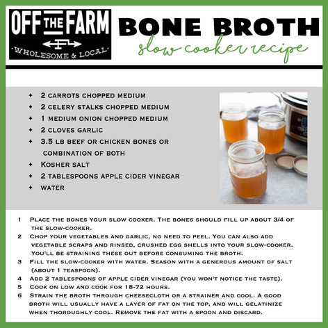 Bone Broth Slow Cooker Recipe