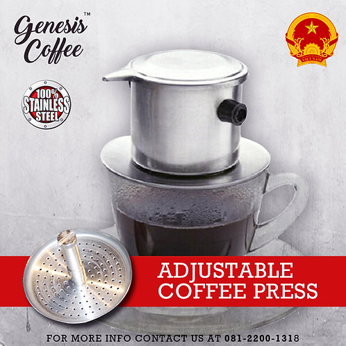 Vietnam Drip with Adjustable Coffee Press