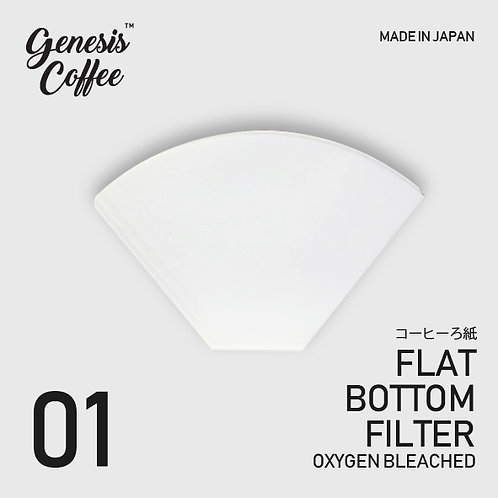 Flat Bottom Paper Filter Oxygen-Bleached Size 01