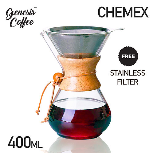 Chemex Dripper with Stainless Steel Mesh Filter