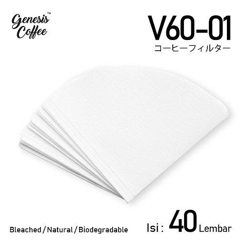V60 Filter Size 01- 40 Sheets