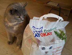 Mal für und mit der Katz´gestestet: Katzenstreu CatOkay Organic