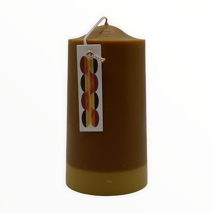 Praline + Coffee Bean pillar candle