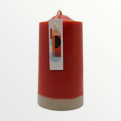 Vintage Cologne + Tobacco pillar candle