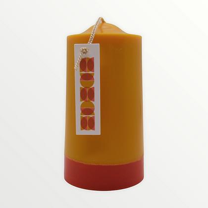 Whiskey + Vanilla pillar candle