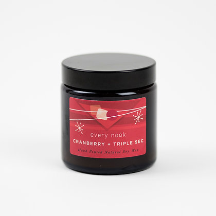 Cranberry + Triple Sec small scented candle