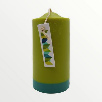 Green Leaf + Bergamot pillar candle