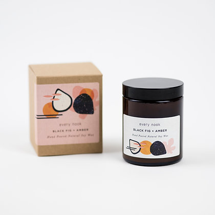 Black Fig + Amber scented candle