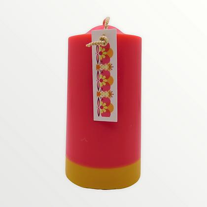 Violet + Tea Rose pillar candle