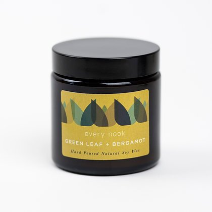 Green Leaf +Bergamot small scented candle