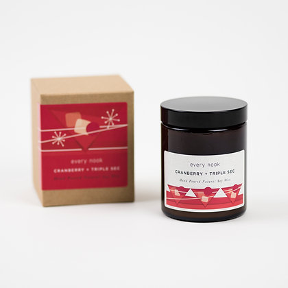 Cranberry + Triple Sec scented candle