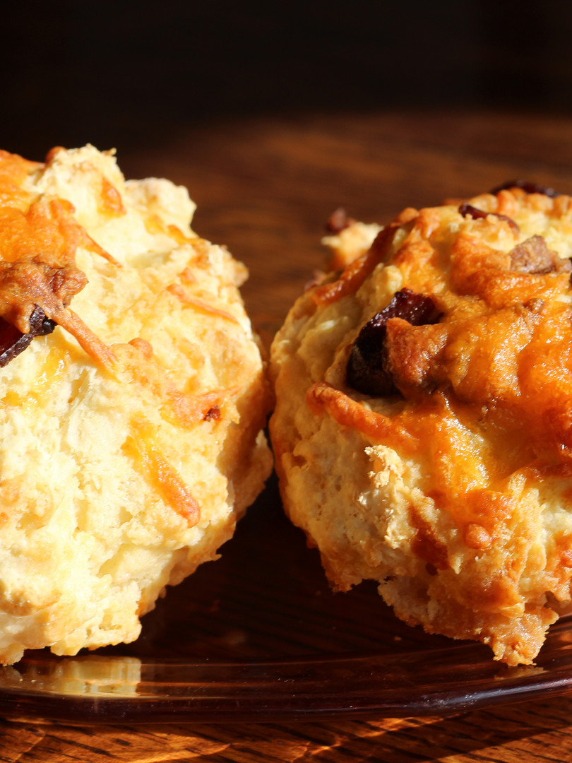 Cheddar bacon biscuits