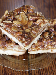 Pecan walnut almond bars