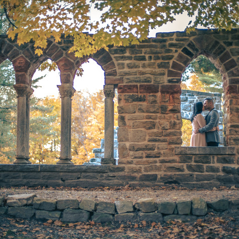 Fall engagement at Mackenzie King Estate in Gatineau Park