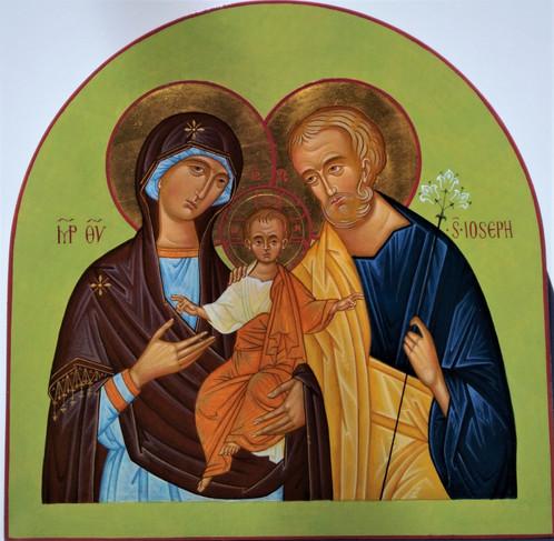 Sacra famiglia icone dipinte a mano vendita online dal - Dal molin tavole per icone ...