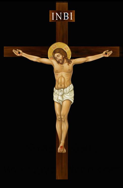 Cristo in croce altezza 200 cm icone dipinte a mano - Dal molin tavole per icone ...