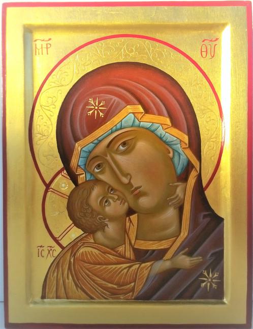 Madre di dio della tenerezza icone dipinte a mano - Dal molin tavole per icone ...