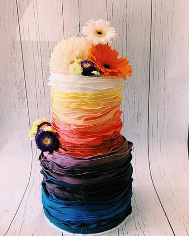 2 tier colour cake 8+6 inch $470