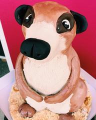 3D carved meerkat cake $350