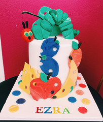 6 inch hungry caterpillar cake $180