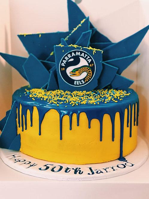 Sports team themed cake