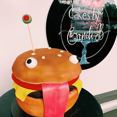 3D Hamburger cake $300 feeds 25+