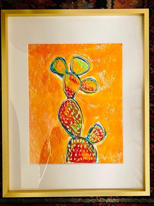 """Orange"" 11x14 Oil Pastel Painting"