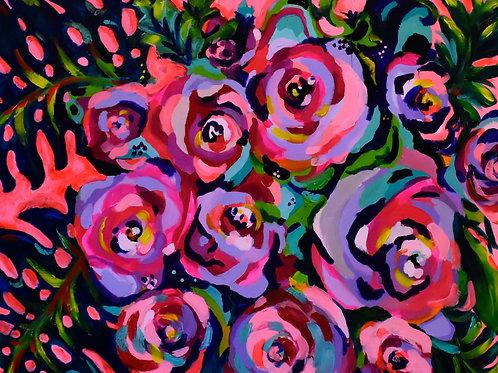"""Fancy Plants"" Acrylic Painting"