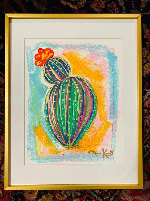 """Blooming"" 18x20 Oil Pastel Painting"