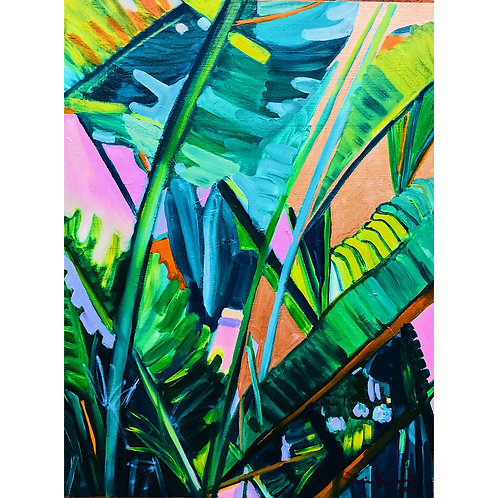 Banana Tree Acrylic Painting