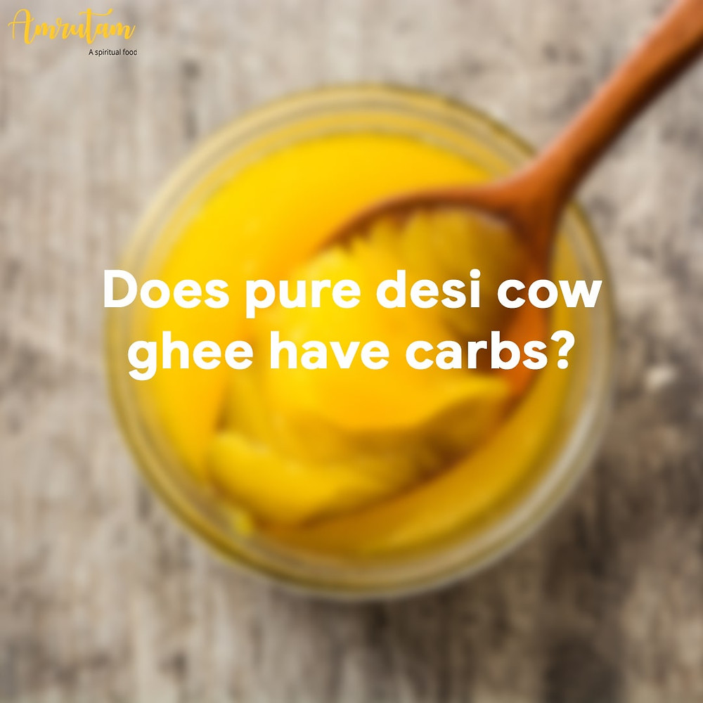 does pure desi ghee have carbs?