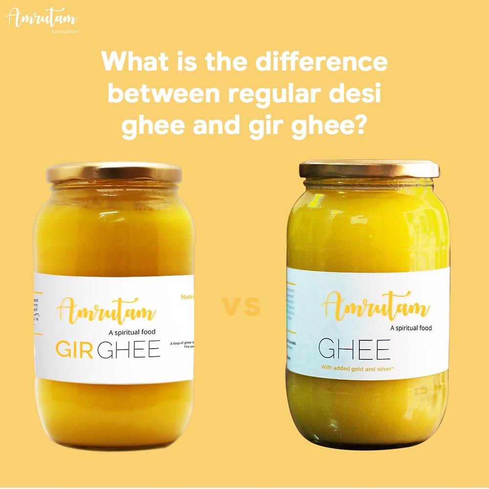 difference between regular desi ghee and gir ghee
