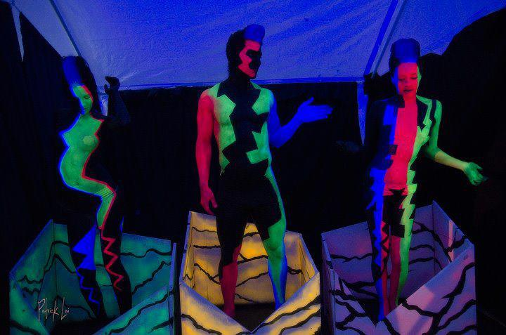 Live Blacklight dancers