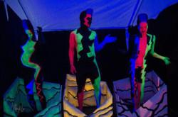 Live Blacklight dancers