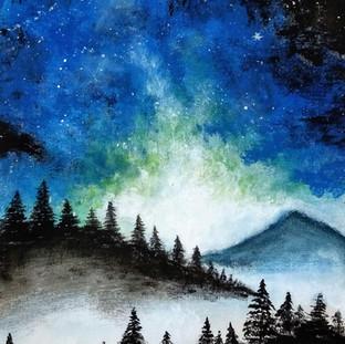 Cosmos over the mountains