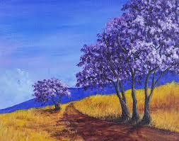 Jacuranda Painting