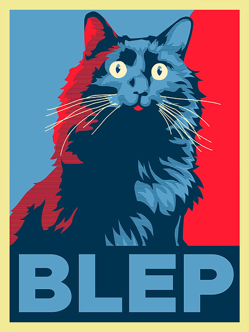 OwlKitty BLEP - Postcard