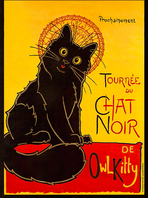 Le Chat Noir - Postcard