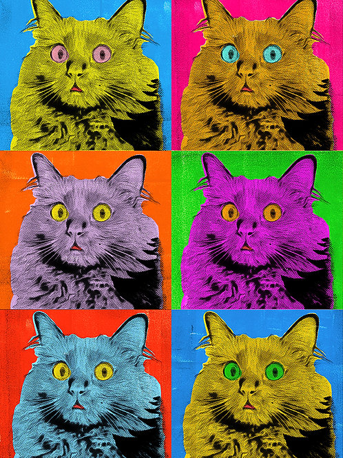 OwlKitty Warhol - Postcard