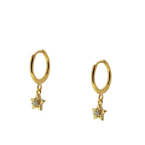 Arito estrella circonita gold unidad