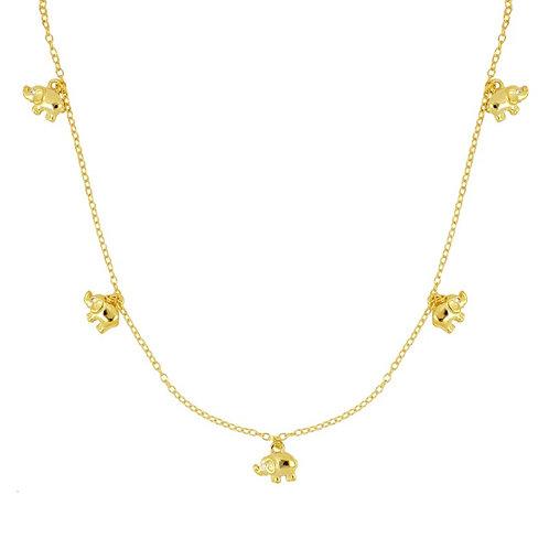 GARGANTILLA  ELEFANTES GOLD