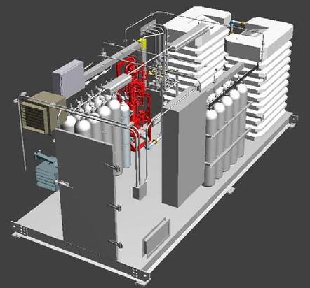 3D Design - Watermist Skid