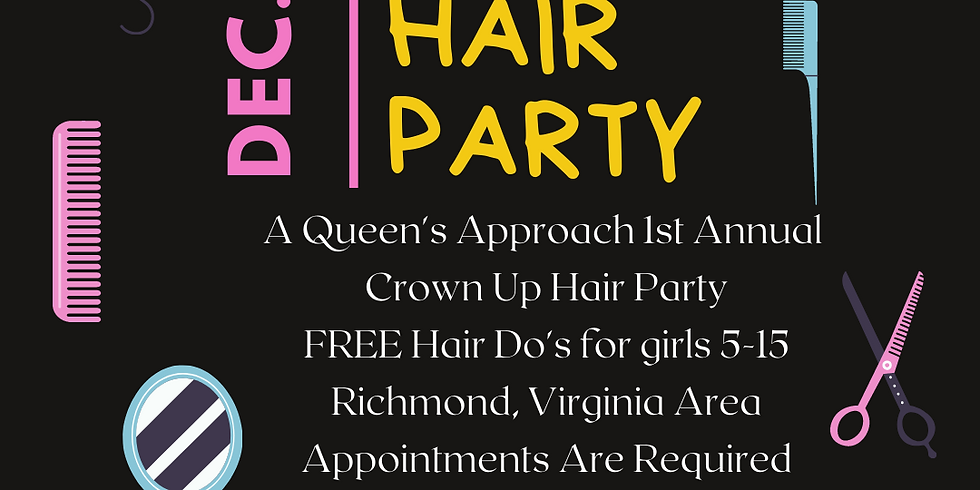 Crown Up Hair Party