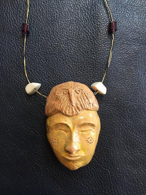 Ceramic Mask Necklace