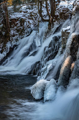 Cascades supérieures gelées - Saut du Bouchot - Sapois - Gerbamont