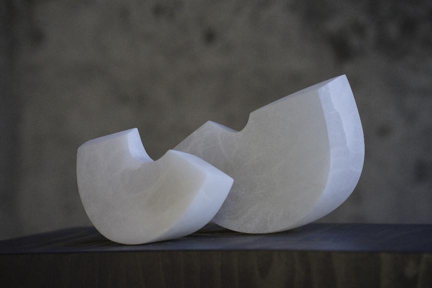 Duo, Alabaster, Höhe ca. 13 cm
