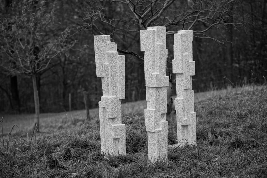Mit Ecken und Kanten, Marmor Cristallina, Höhe ca. 155 cm